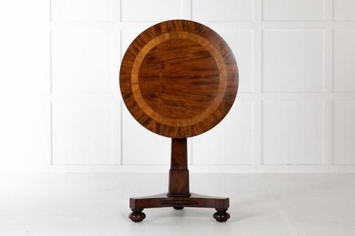 19th Century English Regency Mahogany Lamp Table (1 of 5)