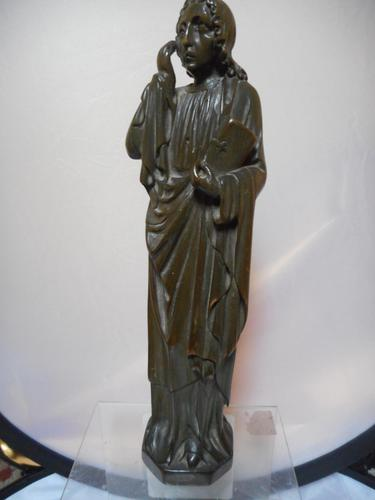 19th Century Wooden Carving of a Saint (1 of 6)