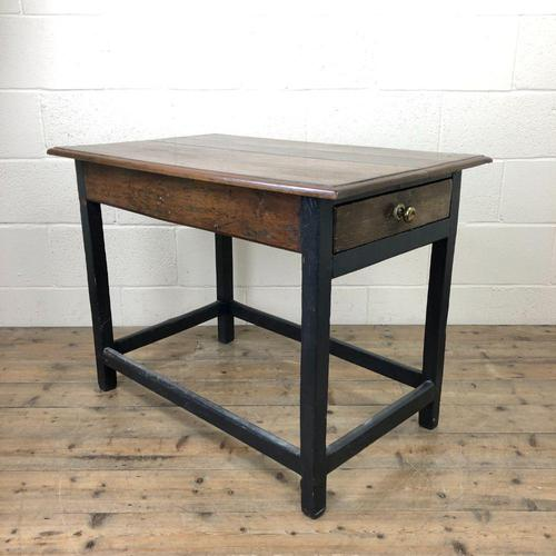 Antique Oak Side Table with Drawer (1 of 11)