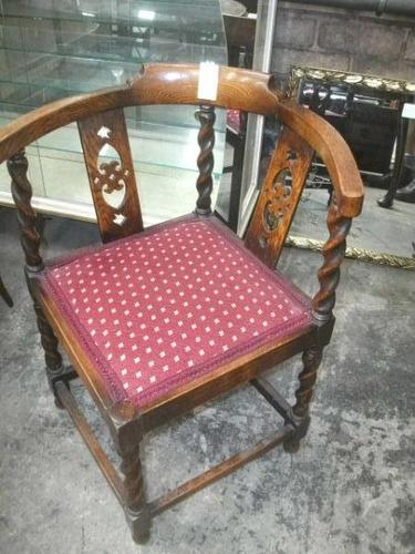 Barley Twist Corner Chair (1 of 2)