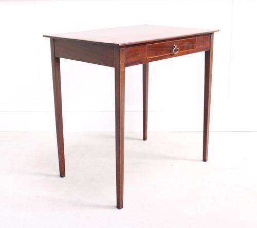 Edwardian Inlaid Mahogany Side Table (1 of 7)