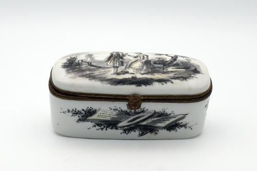 French Faience Box Signed Sceaux (1 of 4)