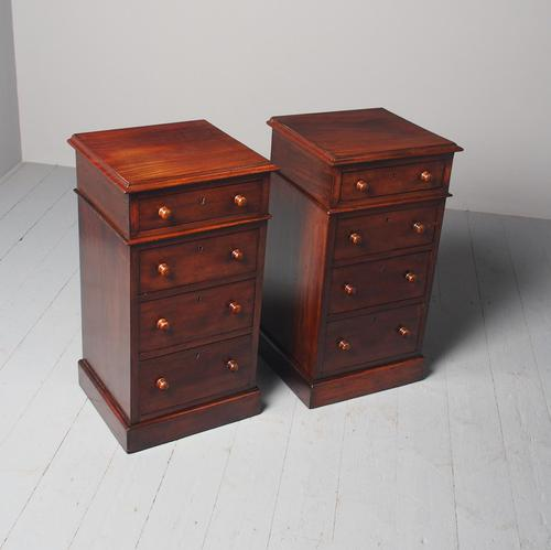 Antique Pair of Victorian Mahogany Bedside Cabinets (1 of 8)