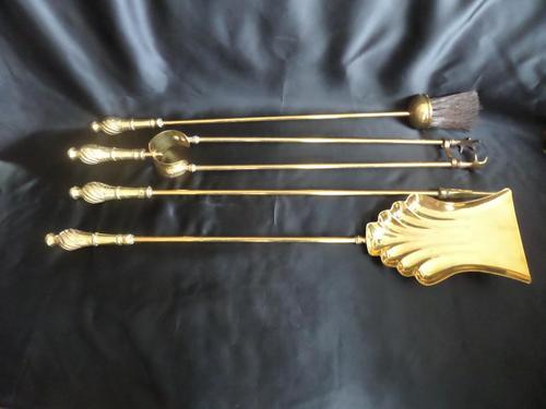 Brass Long Fireside Companion Set 1910s (1 of 5)