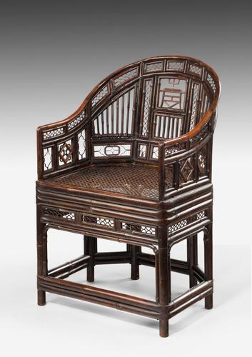 Regency Period Pavilion Cane Armchair (1 of 6)