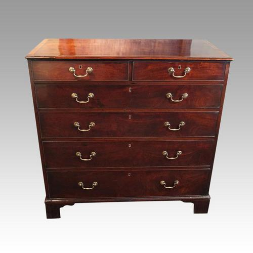 George III Cross Banded Mahogany Chest (1 of 7)