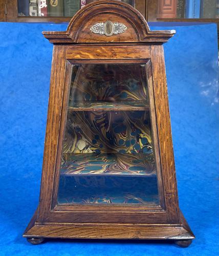 Victorian Oak Miniature Display Cabinet (1 of 11)
