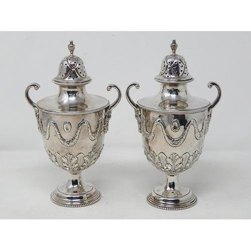 Pair of Ornate Heavy Victorian Hallmarked Silver Sugar Shakers (1 of 7)