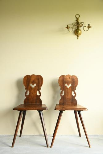 Pair of European Kitchen Chairs (1 of 12)