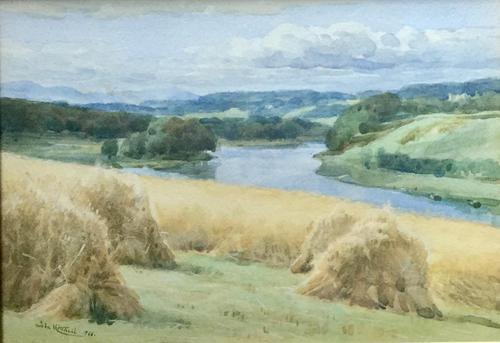 John Mitchell Watercolour - The Dee at Aberdeen' (1 of 3)