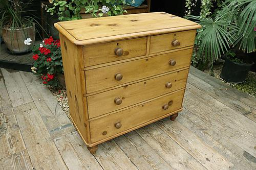Lovely Old Victorian Pine Chest of Drawers - We Deliver! (1 of 7)