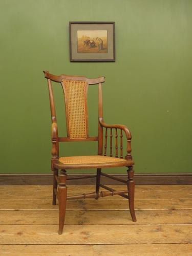 Unusual Antique Bentwood Chair with Caned Seat & Back (1 of 17)
