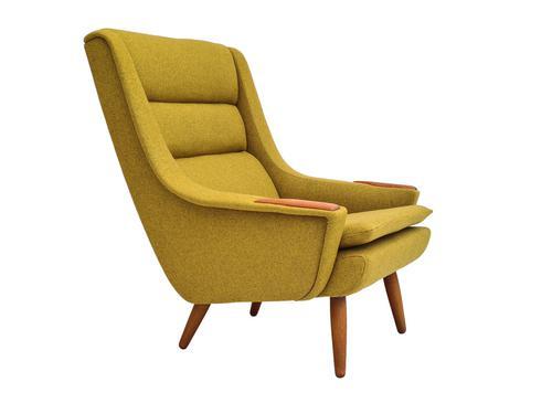 Danish Design, 70s, Completely Restored Armchair, Furniture Wool, Teak Wood (1 of 13)
