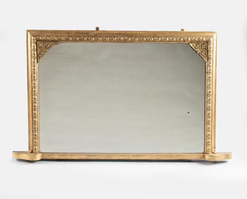 Victorian English Gilt Overmantle Mirror (1 of 6)