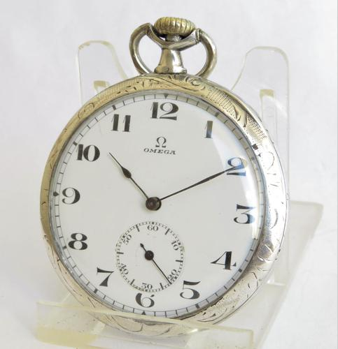 1920s Omega Silver Pocket Watch (1 of 5)