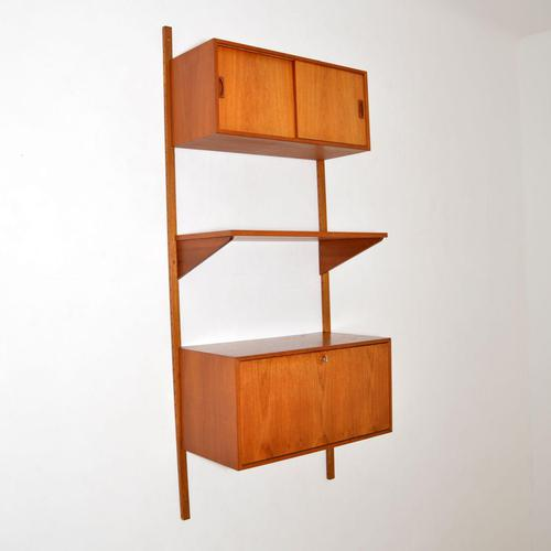 Danish Teak Vintage PS  Wall  System Bookcase Cabinet (1 of 9)