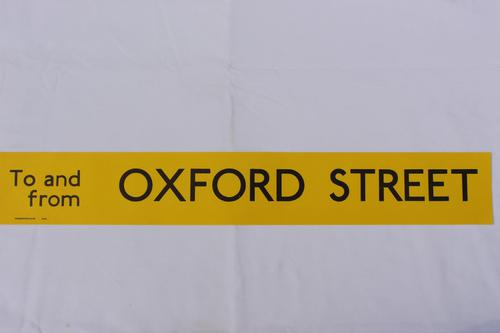 London Transport Slipboard Poster for Oxford Street (1 of 1)