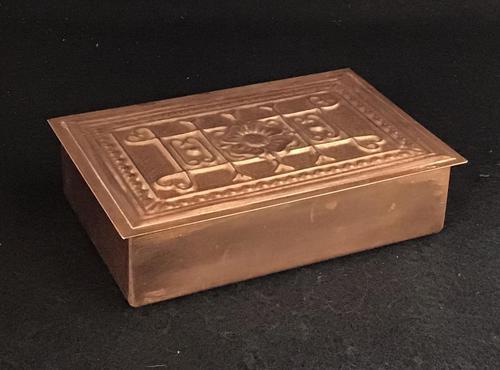 Arts & Crafts Copper Trinket Box (1 of 5)
