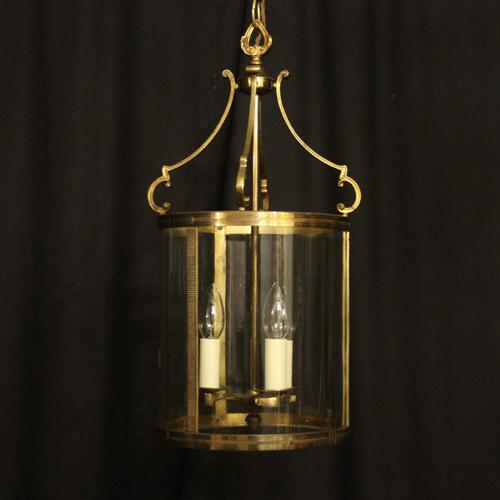 French Gilded Triple Light Antique Lantern (1 of 10)