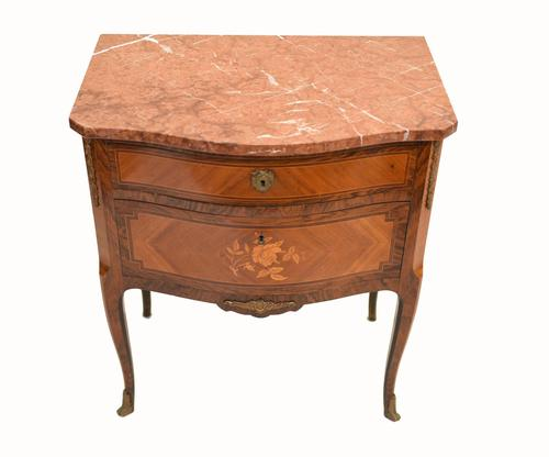 French Empire Commode Marquetry Inlay Antique Chest Drawers (1 of 10)