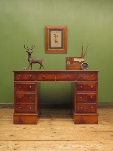 Reproduction Antique Pedestal Desk by Brights of Nettlebed (1 of 16)
