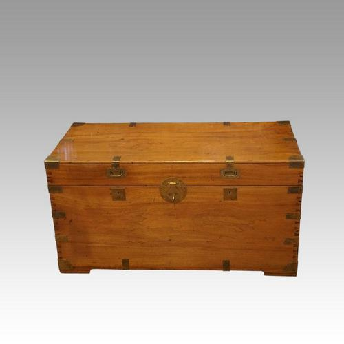 Large Victorian Camphor Wood Trunk (1 of 9)