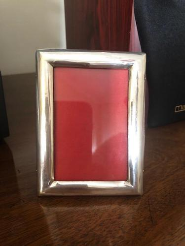 Antique Victorian Solid Sterling Silver Mounted Photo Frame (1 of 2)