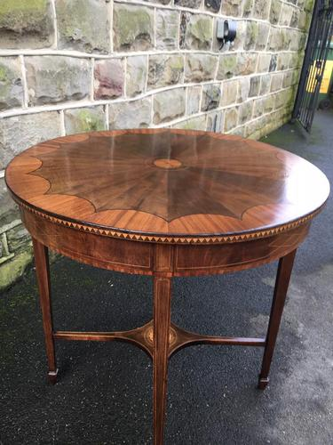 Quality Edwardian Inlaid Mahogany Occasional Table (1 of 7)