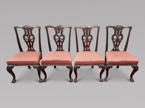 Set of Four 19th Century Chippendale Style Chairs (1 of 3)