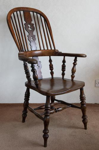 Magnificent Broad Arm Windsor Chair in Ash (1 of 5)