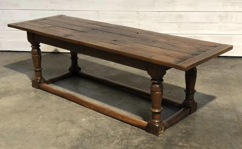 Very Early Oak Farmhouse Refectory Dining Table (1 of 31)