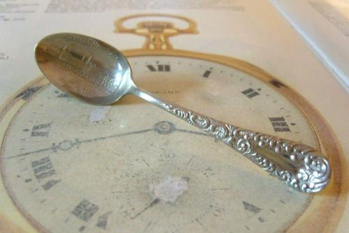 Antique American Waltham Watch Co Teaspoon 1890s Victorian Coin Silver Plated (1 of 10)