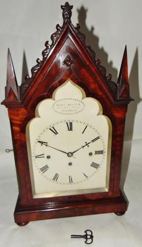 Regency Mahogany Gothic Bracket Clock (1 of 12)
