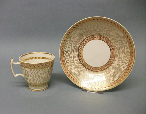 Staffordshire London Shape Coffee Cup & Saucer c.1815-1820 (1 of 6)