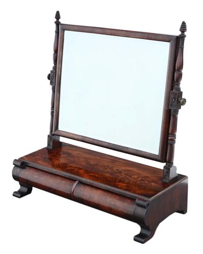 Georgian Mahogany Dressing Table Swing Mirror Toilet c.1825 (1 of 8)