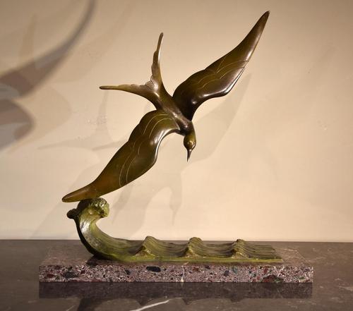 Art Deco Bronze Seagull Georges- Raoul Garreau (1 of 6)