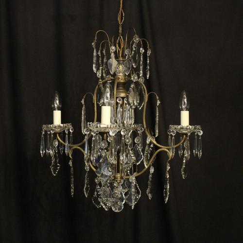 French Gilded Birdcage 5 Light Antique Chandelier (1 of 10)