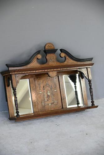 Victorian Inlaid Rosewood Overmantle Mirror Shelf (1 of 12)
