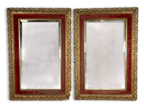 Pair of Carved Giltwood Mirrors (1 of 5)