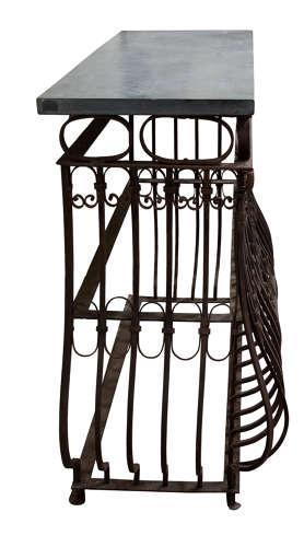 Wrought Iron & Slate Console Tables (1 of 4)