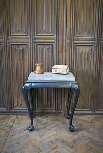 Antique Ebonised Occasional Table (1 of 5)