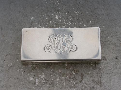 Early 20th Century Silver Triple Compartment Stamp Case by Cohen & Charles, London, 1913 (1 of 10)