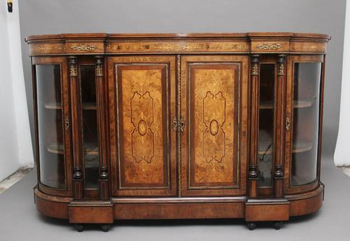 19th Century burr walnut breakfront credenza (1 of 10)