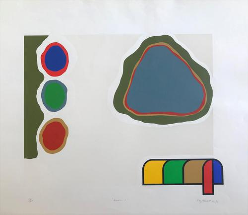Original screen print 'Assisi 1' by Ray Fawcett 1934-1994. Signed, numbered 18/20 and dated 1972 (1 of 3)