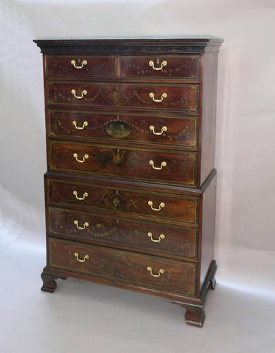 Georgian Mahogany Polychrome Painted Chest on Chest (1 of 12)