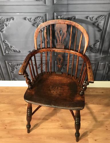 Low Back Ash & Elm Windsor Chair (1 of 8)