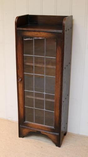 Slim Oak Glazed Bookcase (1 of 9)