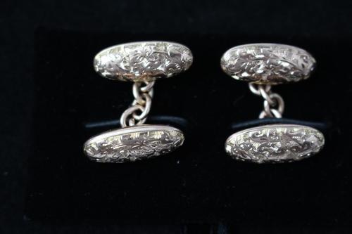 Pair of Victorian rose gold cufflinks (1 of 4)