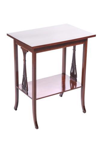 Edwardian Mahogany Inlaid Lamp Table (1 of 6)