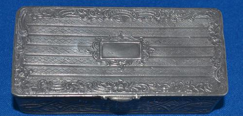 C18th pewter snuff-box (1 of 6)